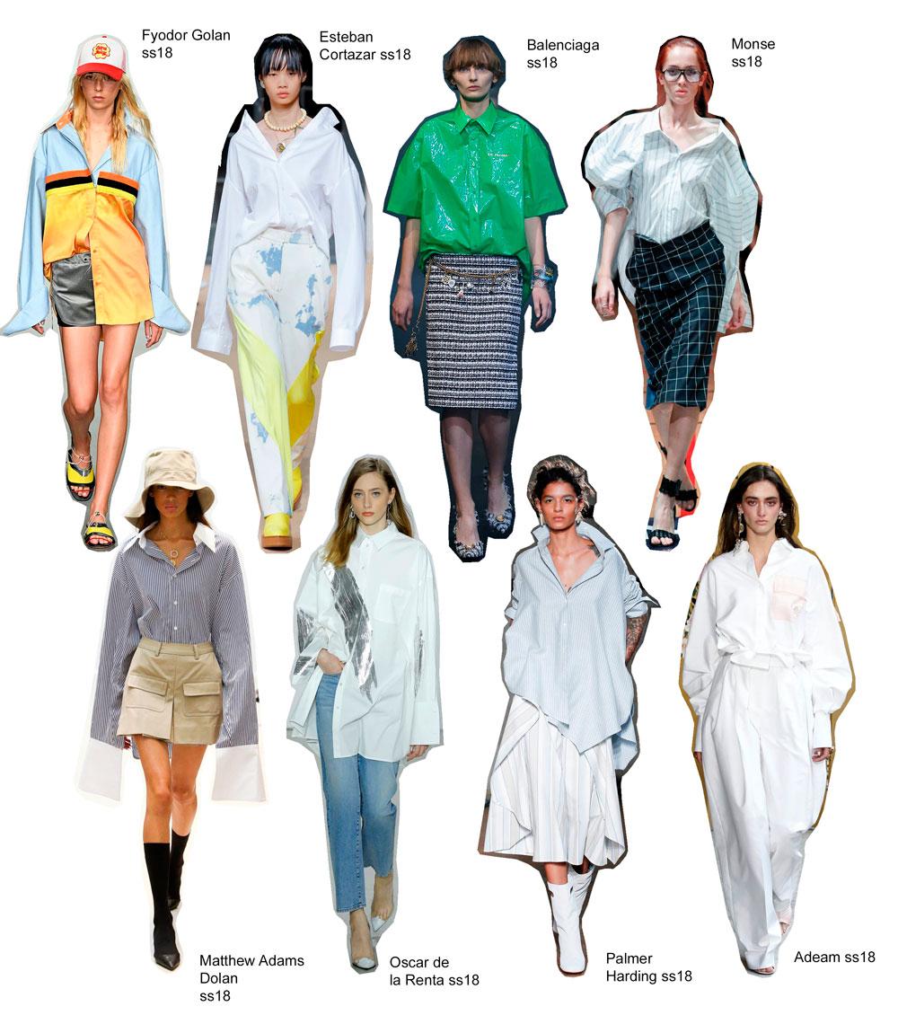 tendencia camisa oversize primavera verano 2018